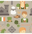 Travel to Ireland pattern vector image vector image