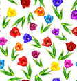 Tulip floral background seamless pattern vector image vector image