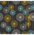 Vintage floral pattern in dark pastel colors vector image vector image