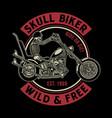vintage skull biker vector image vector image
