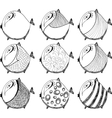 Set of funny fish vector image