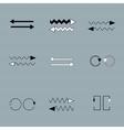 Set of arrows on grey backround vector image