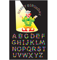 KONFETTI letters alphabet vector image