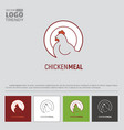 logo with plate and white hen vector image