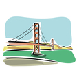 San Francisco Golden Gate vector image