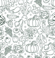 Seamless pattern fruits and vegetables vector image
