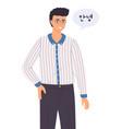 a korean young guy says hello a man asian vector image