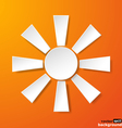 Abstract white paper sun vector image vector image