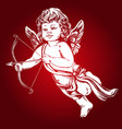 angel little bacupid shoots a bow with an vector image vector image
