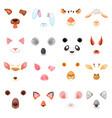 animal mask animalistic masking face vector image vector image