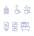 bathroom objects bath curtains vector image