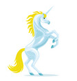 beautiful blue unicorn vector image