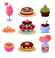 Bright Dessert Icons Set vector image vector image
