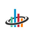 business chart finance logo vector image vector image