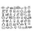 business icon set with shadow vector image