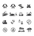 car insurance icons set vector image