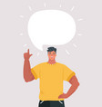 cartoon man with something to say vector image vector image