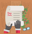 christmas wish list design vector image