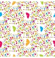 Colorful butterflies and spots seamless pattern vector image vector image