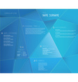 Creative cv template with 3d effect on blue vector image vector image