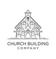 design church building outline vector image vector image