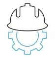 Development Helmet Outline Icon vector image