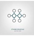 Ethane Molecule Icon vector image vector image