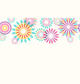 firework border seamless background vector image vector image