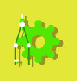Flat icon design collection gear and tool in