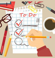 flat organize concept - to do list vector image