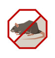 flat polygonal sign with rat vector image vector image