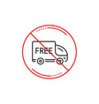 free delivery line icon shopping truck sign vector image