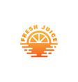 fresh juice logo vector image vector image