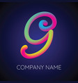 g letter logo icon blending color vector image