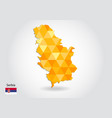 geometric polygonal style map of serbia low poly vector image vector image
