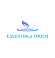 hand massage water drop logo design illus vector image