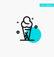 ice cream cream ice cone turquoise highlight vector image
