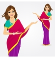 indian woman showing something vector image vector image