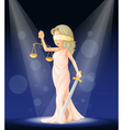 Lady Justice Stage vector image