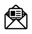 mail post envelope correspondence icon vector image