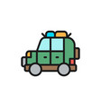 off road automobile suv car for travel flat vector image