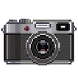 Pixel retro photo camera isolated