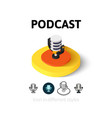 Podcast icon in different style vector image vector image