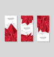 polygonal red abstract futuristic template low vector image vector image