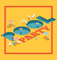 Pool Party Poster vector image vector image