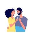 pregnancy test happy young couple looking at vector image