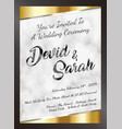 sample wedding card invitation template eps vector image