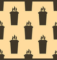 seamless coffee cup pattern falt style vector image