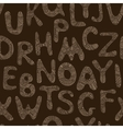 seamless tribal pattern with entangle letters vector image