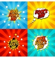 Set of pop art comic april fools day vector image
